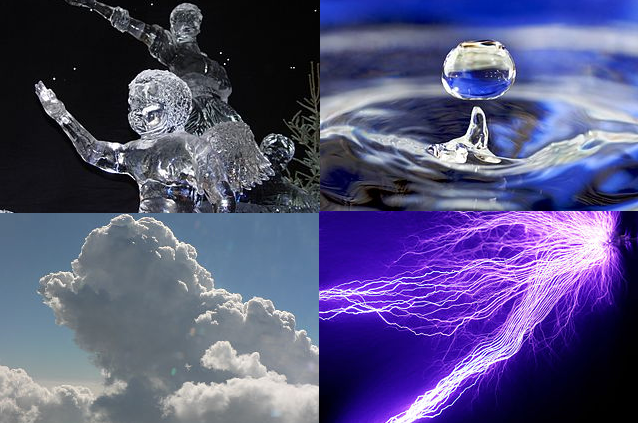 The four fundamental states of matter